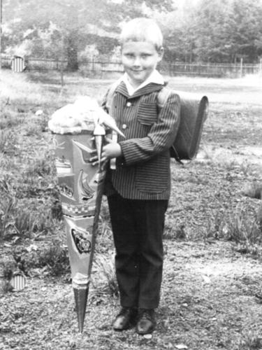 1971 Schuleinfuehrung mit Zuckertuete