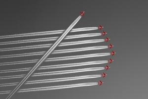 Formationsflug mit Querflieger 300