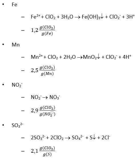 Oxidationsverbrauch Chlordioxid
