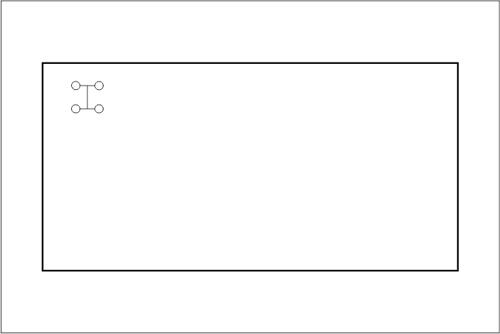 Beckenhydraulik Skizze 03 Tichelmann-System mit 4 Düsen