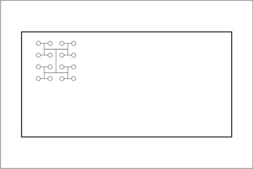Beckenhydraulik Skizze 04 Tichelmann-System mit 16 Düsen