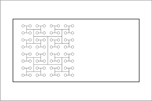 Beckenhydraulik Skizze 05 Tichelmann-System mit 64 Düsen