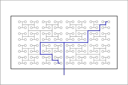 Beckenhydraulik Skizze 06 Tichelmann-System mit 128 Düsen