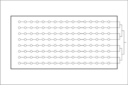Beckenhydraulik Skizze 09 Verrohrung in Linie mit Tichelmann-Verteilung