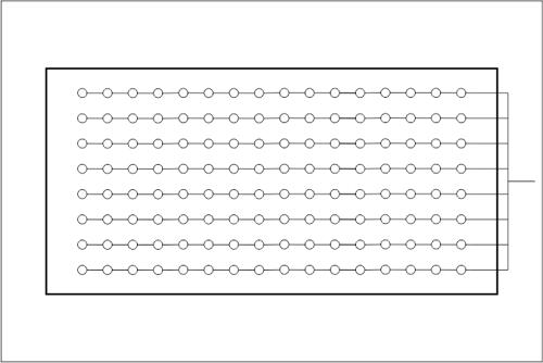 Beckenhydraulik Skizze 10 Berechnete Verrohrung in Linie